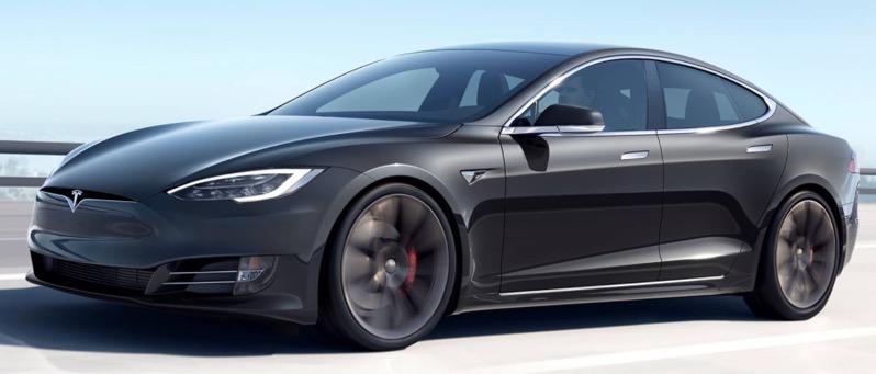 Tesla model S long range plus 647 km