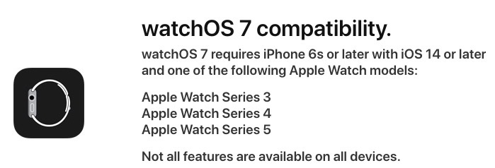 Watchos 7 compatible devices