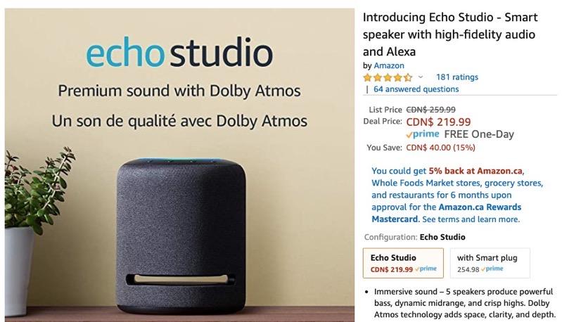 Amazon echo studio sale