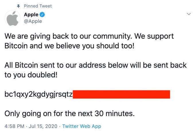 Apple twitter hack