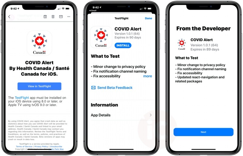 Hands On With Canada S Covid Alert Exposure Notification App Pics Iphone In Canada Blog