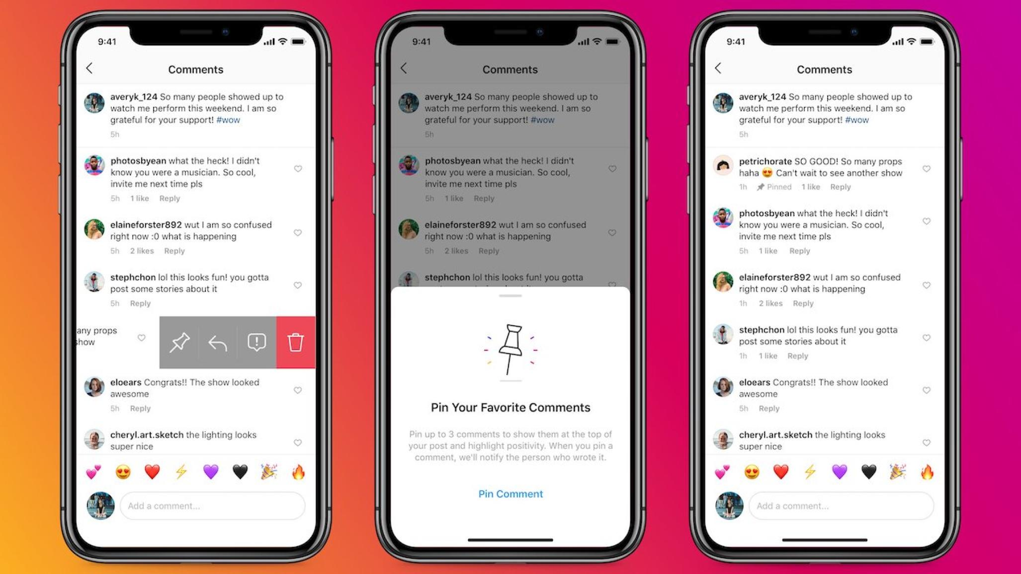 Instagram Rolls Out Ability to Pin Up to Three Comments on Post Interaction Streams