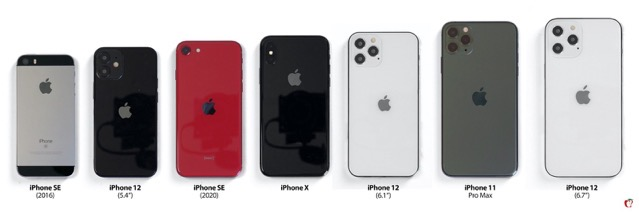 Here's an 'iPhone 12' Size Comparison with iPhone SE, SE 2, 7, 8, X, and 11 [PICS]