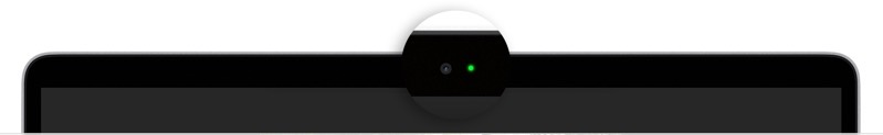 Macbook air camera indicator light
