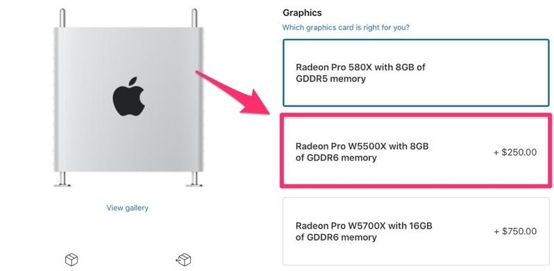 Radeon pro w5500x