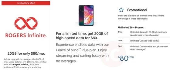 Rogers, Telus and Bell Launch $80/20GB 'Unlimited' Data Plan Promos