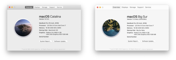 Here?s a Side-by-Side Comparison of macOS Catalina and Big Sur [PICS]