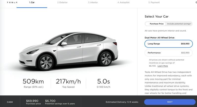 Tesla model y price drop canada