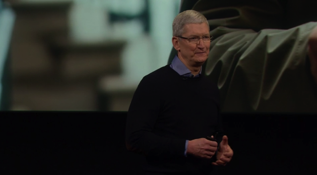Tim cook on stage 1