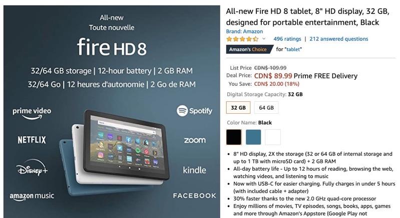 Amazon fire hd 8 sale