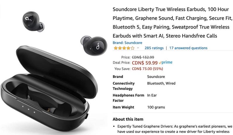 Anker soundcore liberty wireless earbuds