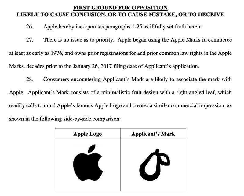 Apple logo vs prepear