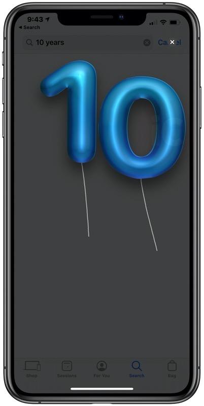 Apple store 10 years