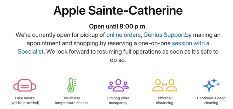 Apple store montreal reopens