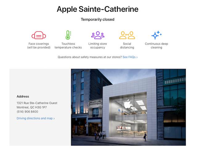 Apple store montreal