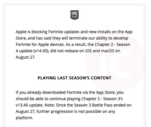 Epic games fortnite email