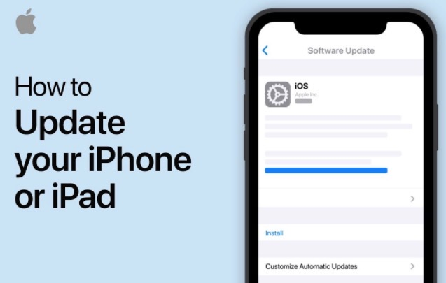 How to update iphone ipad