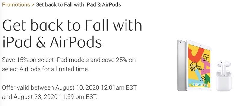 Ipad and airpods sale