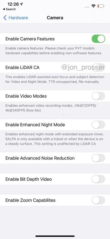 Iphone 12 pro max settings