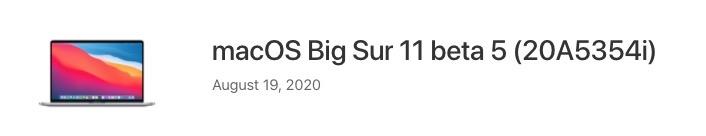 Macos big sur 11 beta 5