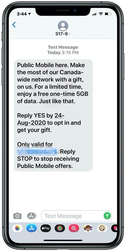 Public mobile bonus data