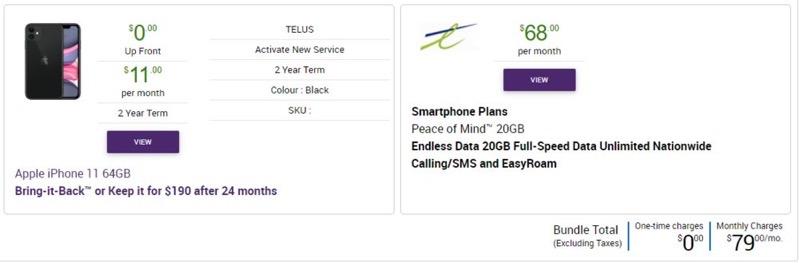 Telus epp iphone 11 august 2020