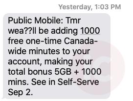 public mobile 1000 minutes