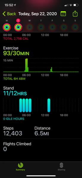 Activity app stand bars