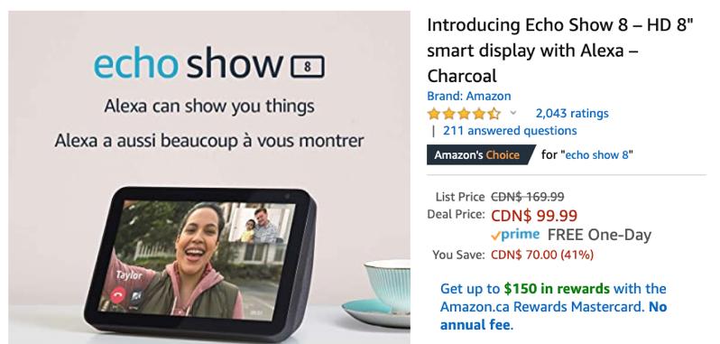 Amazon echo show sale