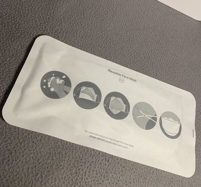 Apple face mask unboxing 3