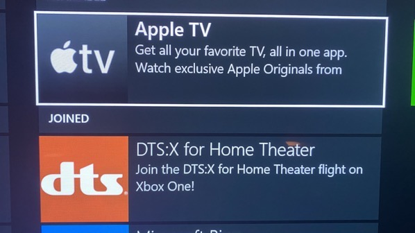 Apple tv xbox