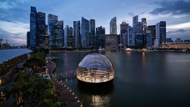 Apple nso marina bay sands aerial view 09072020 Full Bleed Image jpg large 2x