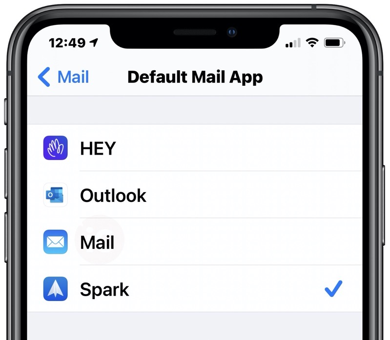 Default mail ios 14