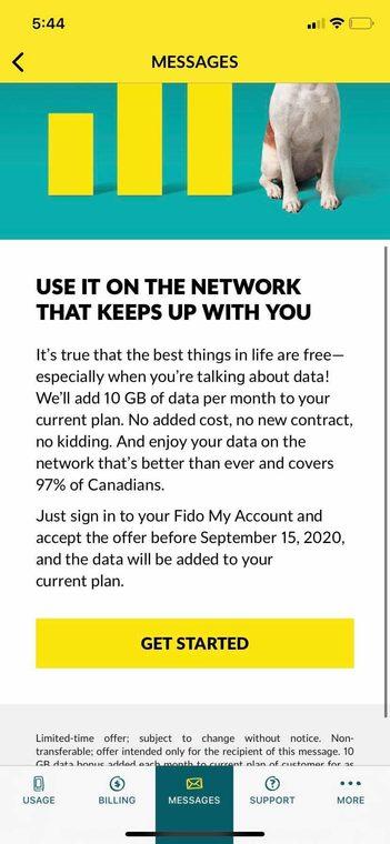 Fido free 10gb