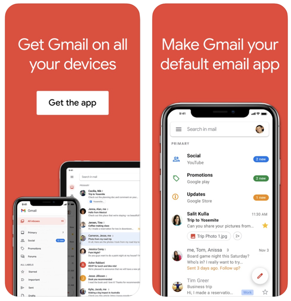 Gmail default email app ios 14