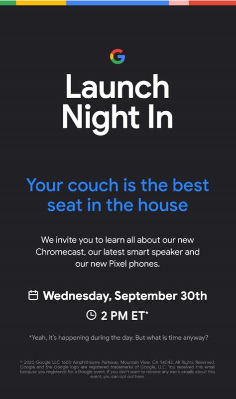 Google invite sept 30