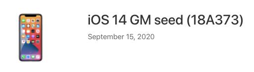 Ios 14 gm seed
