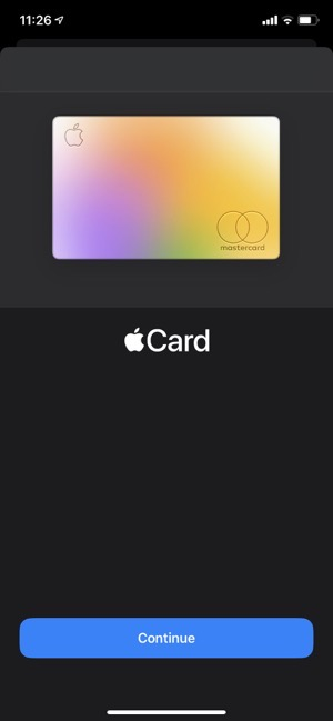 Ios 14 2 apple card setup