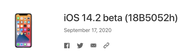 Ios 14 2 beta