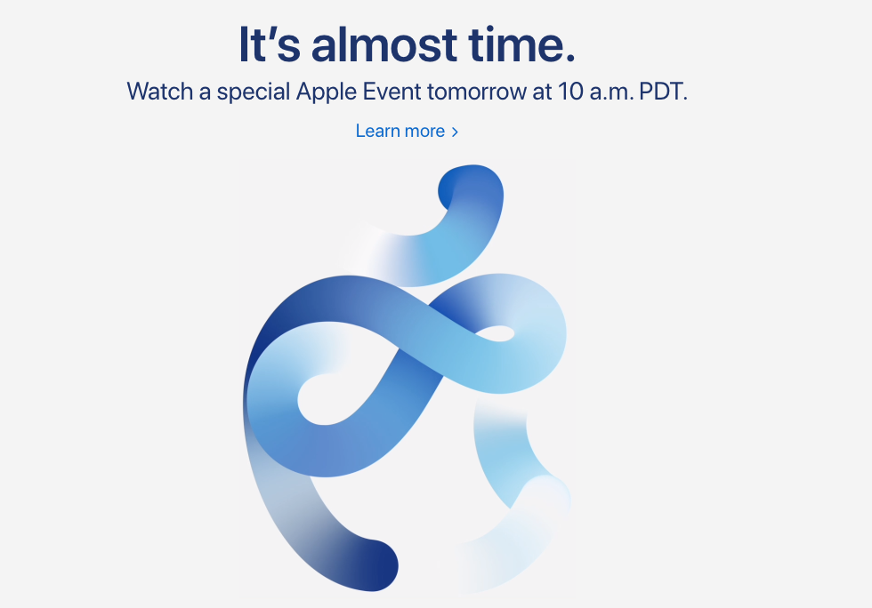 Apple Homepage Now Says It S Almost Time For Tomorrow S Special Event Iphone In Canada Blog