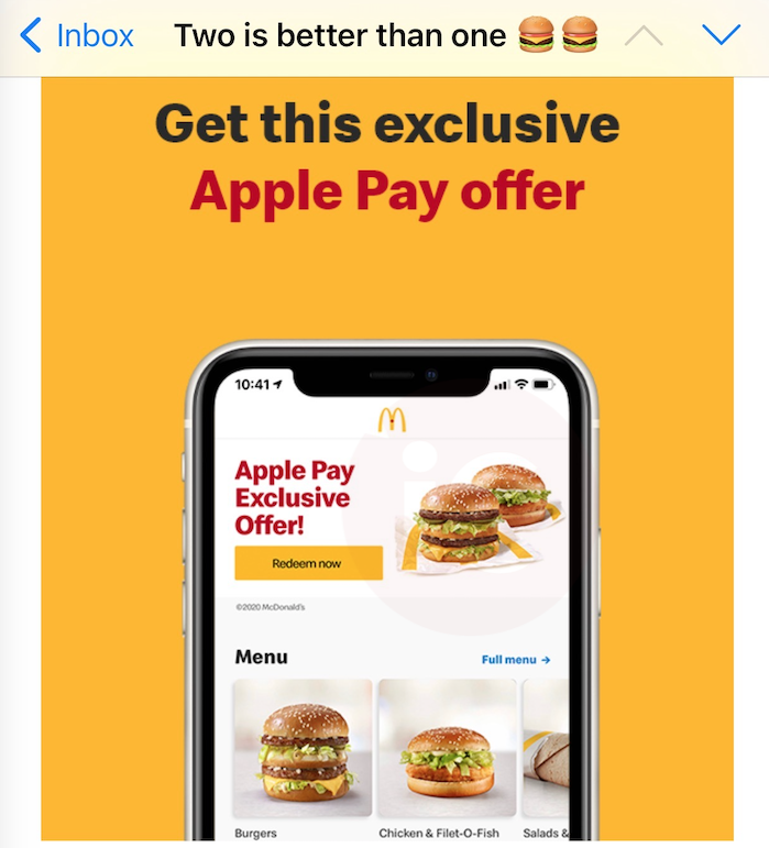 Mcdonald s apple pay