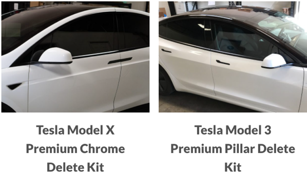 Nikola pro chrome delete kit model 3