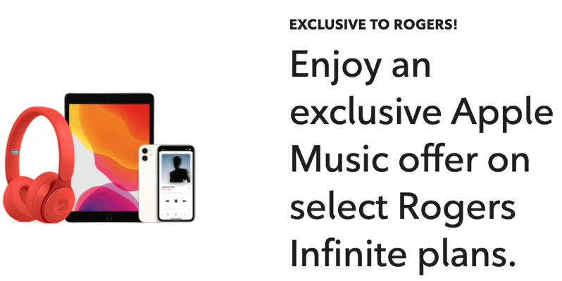Rogers exclusive apple music