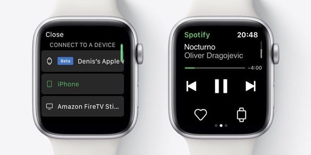 Spotify streaming apple watch
