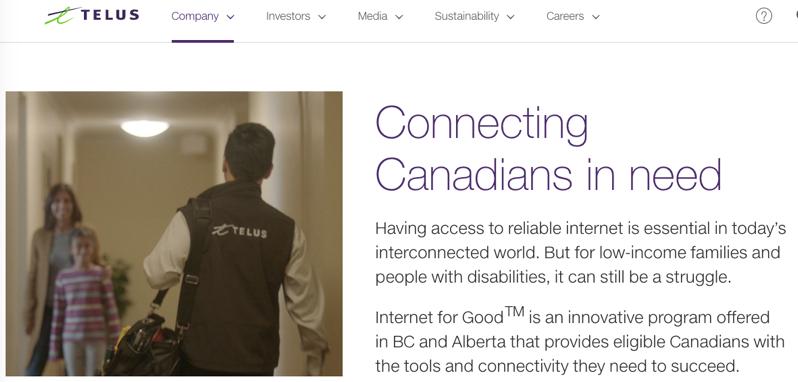 Telus internet for good