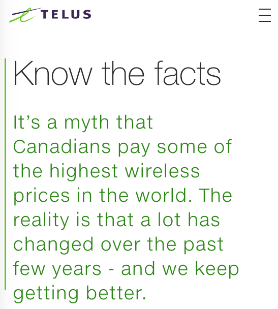Telus know the facts ad
