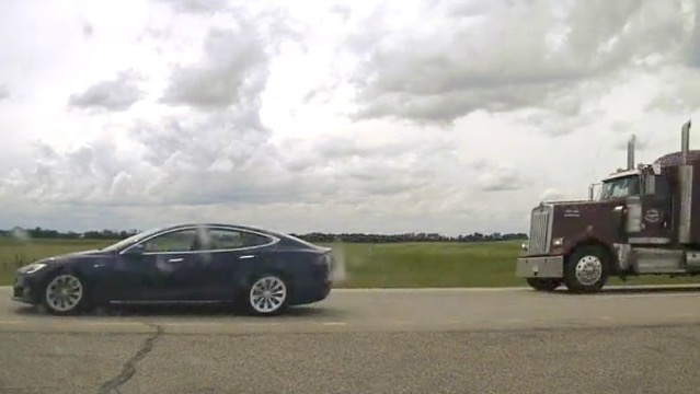 Tesla speeding alberta