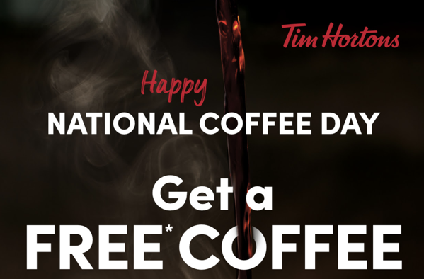 Tim hortons free coffee day