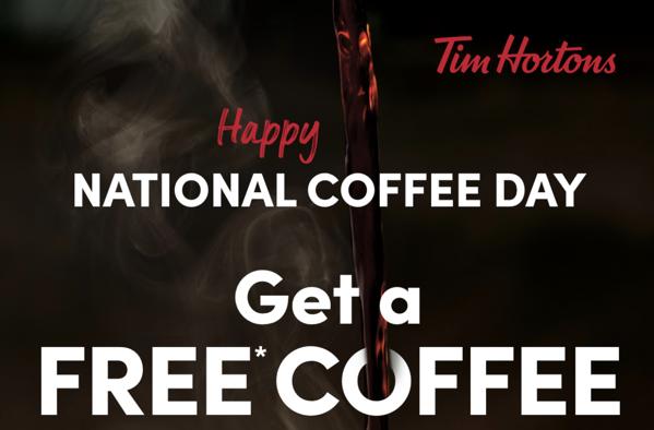 Tim hortons free coffee day