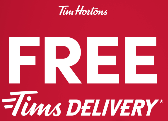 Tim hortons free delivery